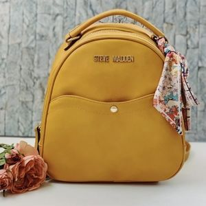 Steve Madden Yellow Mini Backpack With Scarf